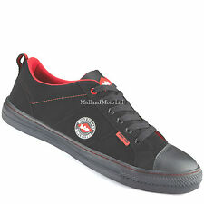 Lee Cooper Lc054 Safety Trainers Black/red Steel Toe Cap Work Shoes UK 8