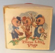 Vtg Three Little Pigs Books Nightlight Night Light working! Crest Specialty Co