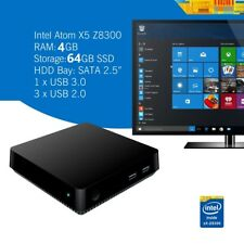 T11 Win 10 Pro Mini reproductor multimedia de escritorio PC HTPC Smart TV Box 4GB+64GB Wifi Bt