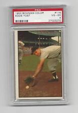 Eddie Yost 1953 Bowman Color Card, # 116, PSA  VG / EX 4. Washington Senators