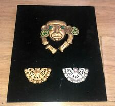 More details for ethnic south american jewellery brass artwork tribal picture mexican peruvian