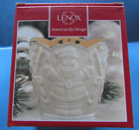 Lenox Merry Lights Santa Votive Candle Holder Container New in Box