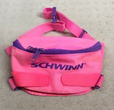 Vtg 80s/90s Schwinn Neon Pink Handle Bar Carry Stash Bicycle Bike Bag Pack Pouch