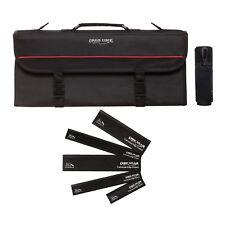 Ergo Chef 13 pocket chef knife case knife roll bag chef bag, 5 Black edge Guards