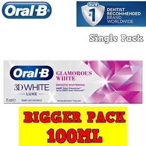 Oral-B 3D White Luxe Glamorous White Toothpaste **BIGGER PACK 100ML