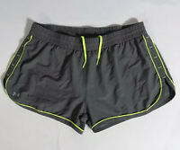 Under Armour Heatgear Gray Semi-Fitted Lined Running Shorts Size Large Women's