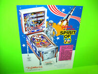 Gottlieb SPIRIT OF 76 Original Flipper Game Pinball Machine Promo Sale Flyer Adv