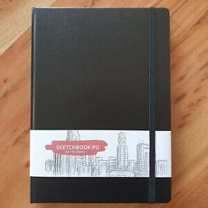 Skizzenbuch A4 50 Blatt Sketchbook PU Skizzen Zeichenblock Malen, Skizzieren