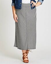 Stunning Plus Size Ladies STRIPE MAXI SKIRT Size 14 (Free Post)