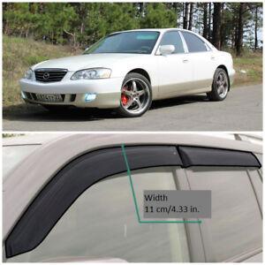 ME22800 Window Visors Guard Vent Wide Deflectors For Mazda Millenia 2000-2002