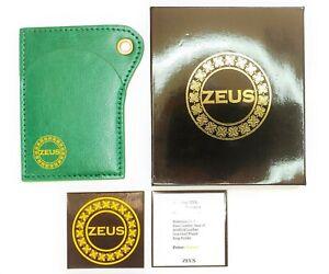 ZEUS Brand Slim Wallet Thin Card Holder Green Luxury Woman Man Economy EDITION