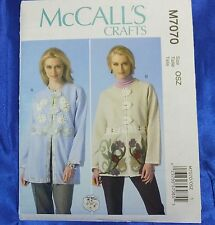 McCall's M7070 Pattern Use 2 Purchased Sweatshirts to create this easy jacket