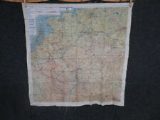 WWII US ARMY AIR FORCE SILK ESCAPE MAP-BELGIUM, FRANCE, & GERMANY
