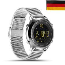 Bluetooth Smartwatch Armbanduhr Schrittzähler Uhr für Android IOS Wasserdicht