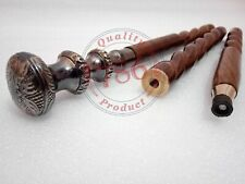 Brass Black Handle Wooden Vintage Walking Cane Antique Style Stick Style gift