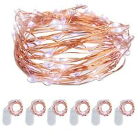 6 x Holiday 20 LED 2M Battery Operated String Lights Fairy Wedding Cool white