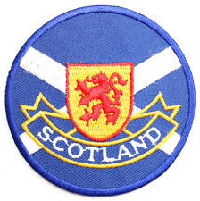 Scottish Saltire Lion Rampant Embroidered Sew-on Cloth Badge Patch Appliqué