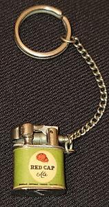 1950's - RED CAP ALE BLACK LABEL CARLING'S BEER - JAPAN - MINI LIGHTER KEYCHAIN