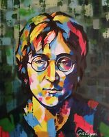 John Lennon from original acrylic painting large print on canvas 60 x 80 cm
