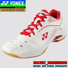 NEW WOMENS YONEX POWER CUSHION SHB65ZLEX BADMINTON SQUASH INDOOR SHOES WHITE/RED