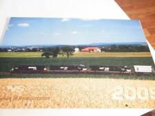 "CALENDAR - NORFOLK SOUTHERN 2009- 17"" LONG! - NEW - M6"