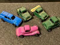 Vintage Tootsie Toy Cars Lot of 5 Ford Vicky, Taurus Wagon, Jeep