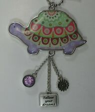 a Follow your dreams Turtle Happy Thoughts Car Charm Mirror ornament Ganz