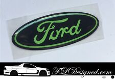 Ford steering wheel Badge decal overlay - Lime green / Red or Chrome