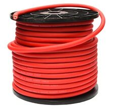 4 AWG GAUGE 25mm² OFC OVERSIZED RED POWER CABLE PER METRE PURE COPPER WIRE