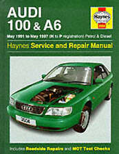 AUDI 100 AND A6: SERVICE AND REPAIR MANUAL., Legg, A. K. & Mark Coombs., Used; V