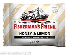 24 X Fisherman's Friend Sugar Lozenges Honey & Lemon 25g