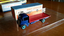 ALL ORIGINAL DINKY #512 TYPE 1 GUY FLAT TRUCK(RED/BLUE) BOXED