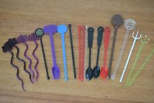 Vintage group lot of mixed swizzle sticks cocktail stirrers