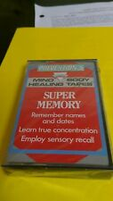 Prevention's Mind Healing Body Tapes cassette Super Memory Sensory Recall New cs