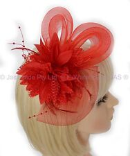 Spring Racing Race Party Melbourne Cup Feather Fascinator Headband Hairband Clip