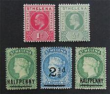 Nystamps britische St. Helena Stempel # 33 // 49 mint OG H s17y3190