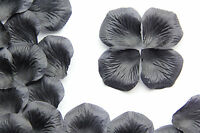 Black Silk Rose Flower Petals Wedding/Party Table Gems/Confetti/Decoration
