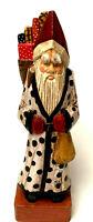Vintage Style Christmas Santa Claus Black Red White