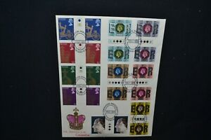 GB first day cover 1978 Coronation with traffic light gutter pairs sets etc