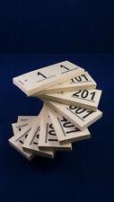 Doppelnummern 1000 Abrisse  1 - 1000  für Verlosung, Tombola, Garderobe usw.
