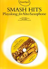 SMASH POP HITS FOR  ALTO SAXOPHONE Sheet Music Book & Playalong CD