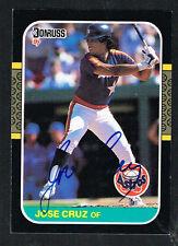 Jose Cruz #85 signed autograph auto 1987 Donruss Baseball Trading Card