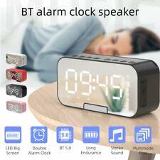 Digital Radiowecker mit Lautsprecher Uhrenradio LED Alarm Tischuhr DHL