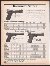 2001 BROWNING 9mm Hi-Power, Buck Mark Standard and Target Pistol AD