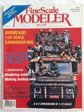 FINE SCALE MODELER May 1990 V8#4 1/35 scale Cambodia Bus - FREE shipping.