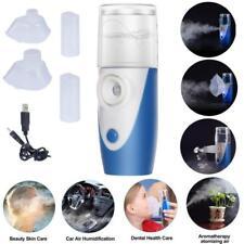 Mini Portable Travel Ultrasonic Nebulizer Inhaler Respirator Mesh Rechargeable