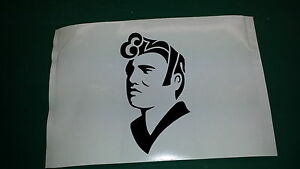 ELVIS Decal Sticker,Window,Car,Van,Bumper,King,Presley,Jailhouse,Hair,name
