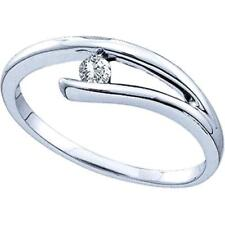 Mini Solitaire Style 925 Sterling Silver Diamond Engagement Ring