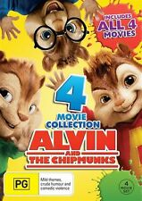 Alvin And The Chipmunks 1 2 3 4 MOVIE COLLECTION (DVD, 2016, 4-Disc Set), NEW