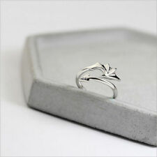 New Style Black&Silver Bat Shape Ring Couple Lover rings Adjustable Jewelry